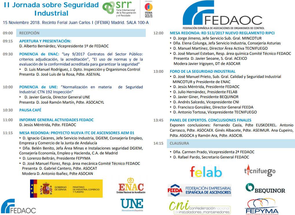 Jornada de Seguridad Industrial FEDAOC
